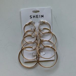 SHEIN gold AND silver hoops set